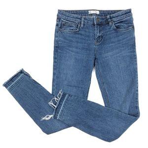 Free People | Skinny Raw Hem High Rise Jeans